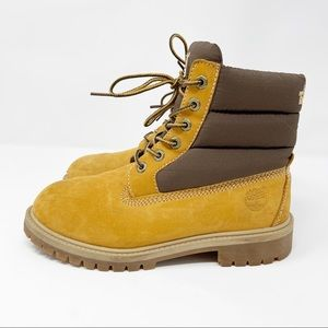 """Timberland Quilted 6"""" Classic Hiking Boot Boys 3.5"""